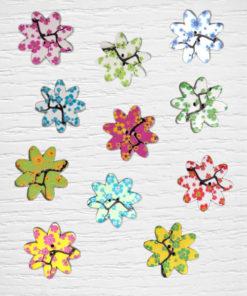 Botones flores de árbol Lidia Crochet Tricot