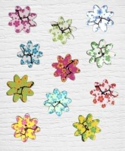 1 Bouttons fleurs arbre general