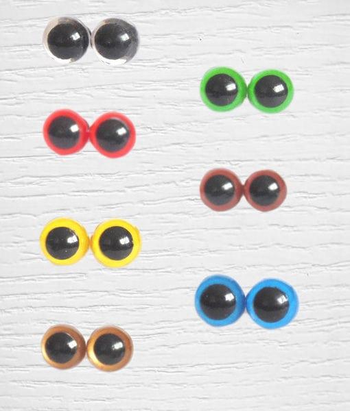 Yeux sécurisés amigurumi colorés 12 mm Lidia Crochet Tricot
