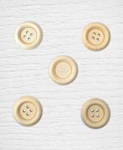 Boutons bois 23 mm bois clair Lidia Crochet Tricot