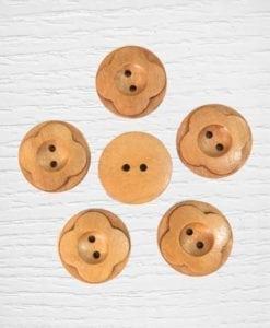 Bouttons bois 25 mm bois clair Lidia Crochet Tricot