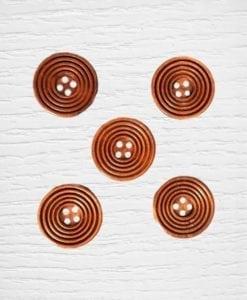 Bouttons bois 25 mm bois foncée Lidia Crochet Tricot