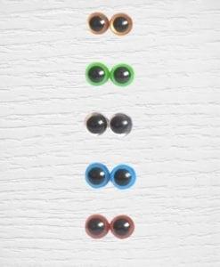Colored amigurumi safety eyes 10 mm