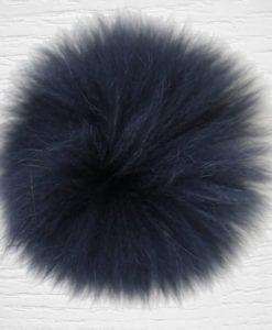Pompon fourrure lapin noir LIDIA CROCHET TRICOT