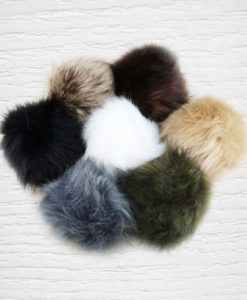 Synthetic fur pom pom Lidia Crochet Tricot