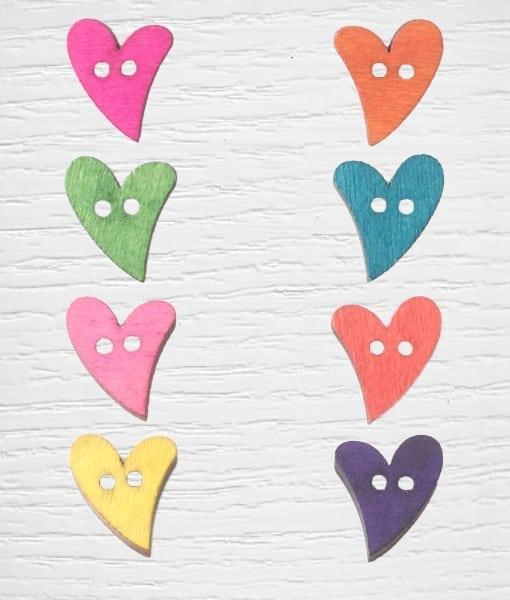 Heart Buttons Lidia Crochet Tricot