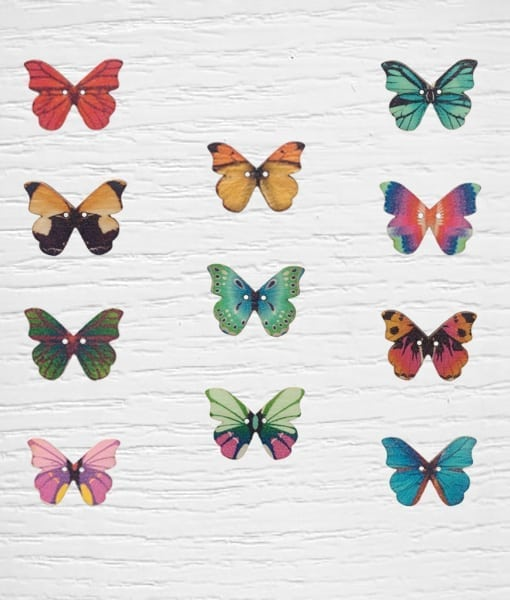 Botones mariposa Lidia Crochet Tricot