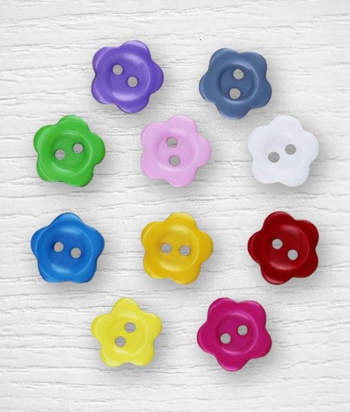 Boutons plastique fleurs Lidia Crochet Tricot