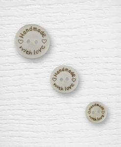 Boutons bois 24 20 15 mm bois Handmade Lidia Crochet Tricot