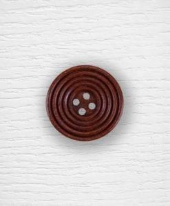 Boutons bois 25 mm bois foncée Lidia Crochet Tricot