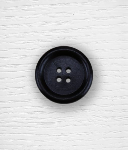 Wood buttons 25 mm black Lidia Crochet Tricot