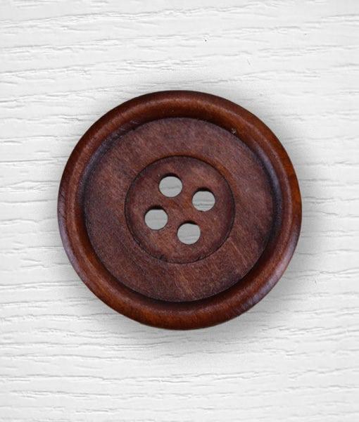 Boutons bois 50 mm bois foncé Lidia Crochet Tricot