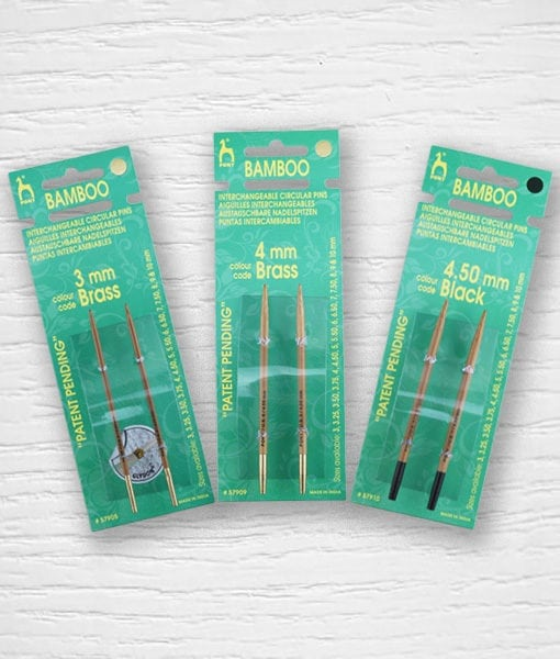 Aiguilles circulaires interchangeables bambou PONY