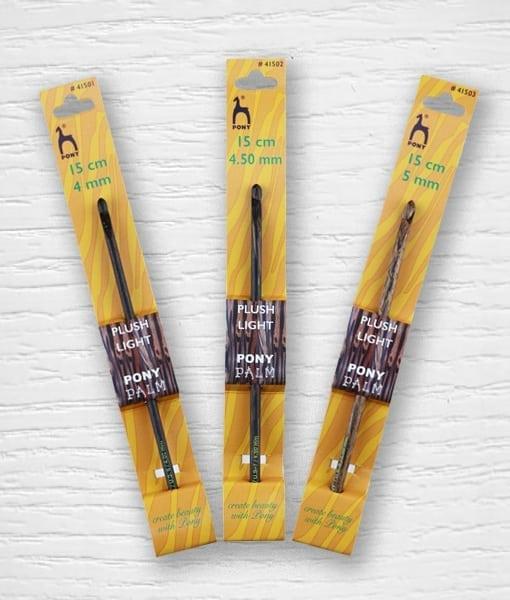 Ganchillos madera de palma Pony PONY Lidia Crochet Tricot