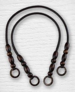 Anses de sac simili cuir bois 2 Lidia Crochet Tricot
