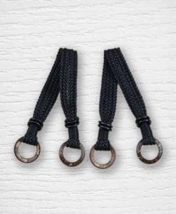Anses de sac simili cuir tressées noir Lidia Crochet Tricot