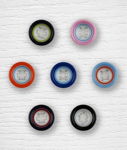 Bouton multicolor Lidia Crochet Tricot 0