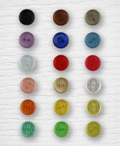Flower buttons - colorful Lidia Crochet Tricot