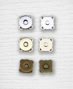 Fermoir bouton aimant à coudre 15 mm Lidia Crochet Tricot