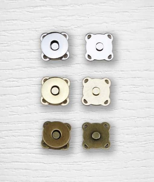 Cierre de botón magnético a coser 15 mm Lidia Crochet Tricot