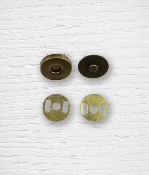 Fermoir bouton aimant sac à attacher cuivrée 15 mm