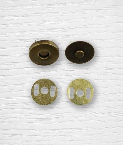 Fermoir bouton aimant sac à attacher cuivrée 19 mm