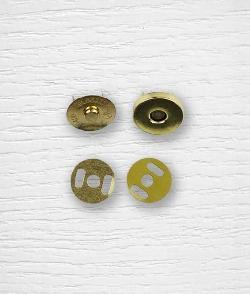 Fermoir bouton aimant sac à attacher dorée 15 mm