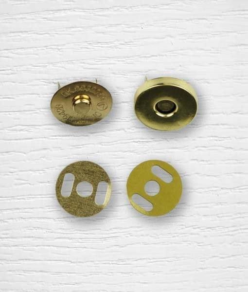 Fermoir bouton aimant sac à attacher dorée 19 mm