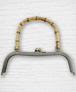 Fermoir cadre porte monnaies poignées bambou type sac Lidia Crochet Tricot