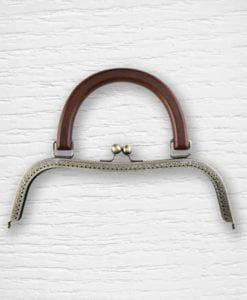 Fermoir cadre porte-monnaies bronze bois type sac Lidia Crochet Tricot
