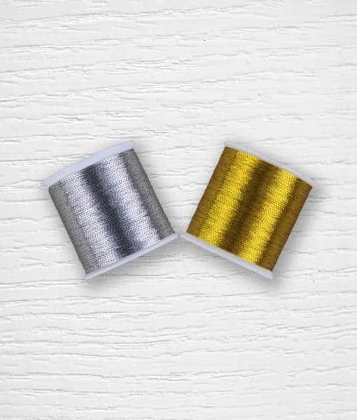 Fil métallique doré argenté Lidia Crochet Tricot