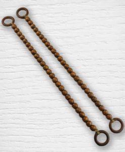 Anses de sac billes bois marron Lidia Crochet Tricot