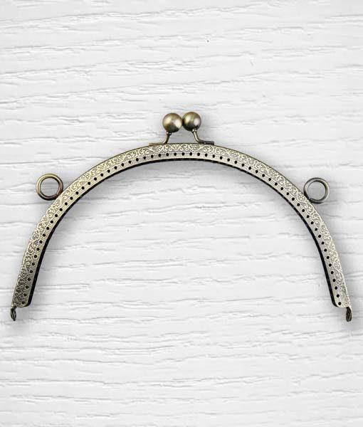 Fermoir cadre porte monnaies 21 cm arrondie bronze Lidia Crochet Tricot