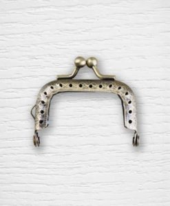 Coin purse metal frame clasp 5 cm square Lidia Crochet Tricot