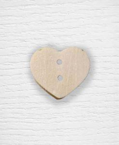 Wooden heart buttons Lidia Crochet Tricot