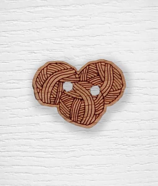 Boutons pelotes de laine bois Lidia Crochet Tricot