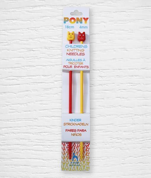 Aiguilles à tricoter pour enfants PONY Lidia Crochet Tricot 4 mm