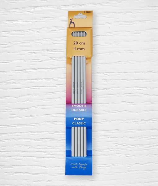 Aiguilles à tricoter à double pointe 20 cm 4 mm Pony Lidia