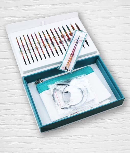 Coffret aiguilles circulaires interchangeables KnitPro Colours of Life 3 Lidia Crochet Tricot