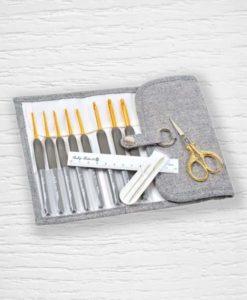 Set crochets ergonomiques Tulip Etimo Premium Gold 2 mm - 6 mm Lidia Crochet Tricot