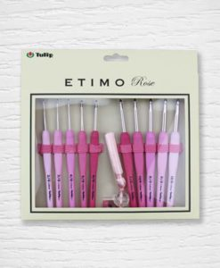 Set crochets ergonomiques Tulip Etimo rose 2 mm - 6 mm Lidia Crochet Tricot 1