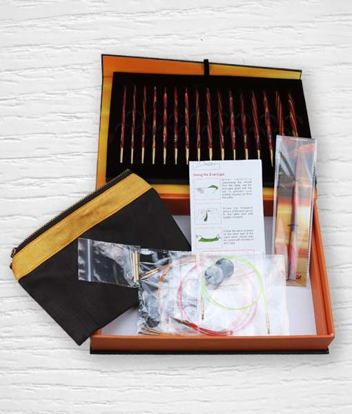 Coffret aiguilles circulaires interchangeables KnitPro The Golden Light 3 Lidia Crochet Tricot