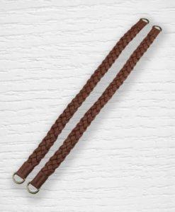 Anses de sac simili cuir tressées 55 cm marron Lidia Crochet Tricot