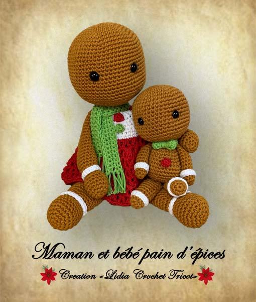 Maman et bébé pain d'épices tutoriel pdf Lidia Crochet Tricot