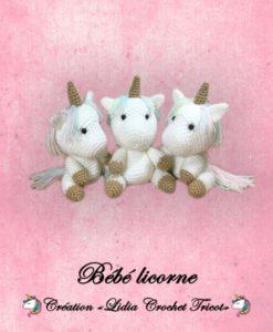 Bébé licorne ( tutoriel Lidia Crochet Tricot)