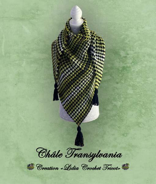 Châle Transylvania Lidia Crochet Tricot