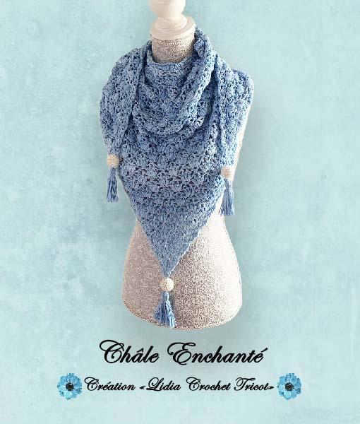 Châle Enchanté (tutoriel Lidia Crochet Tricot)
