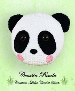 Coussin Panda (tutoriel Lidia Crochet Tricot)