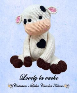 Lovely la vache (tutoriel Lidia Crochet Tricot)