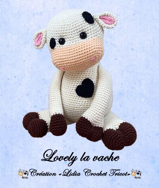 Lovely la vache (tutoriel Lidia Crochet Tricot)